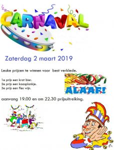Carnavalsavond @ Kantine